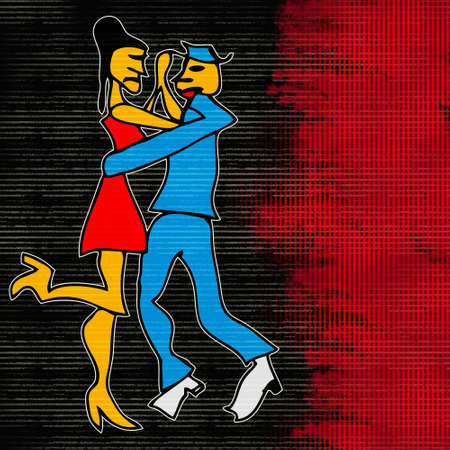 Tango Dance, Cartoon style background  photo