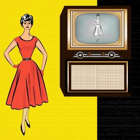 Retro Television Message Vector