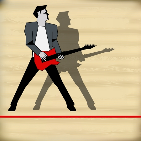 Retro Background illustration for a rock music performance Vector