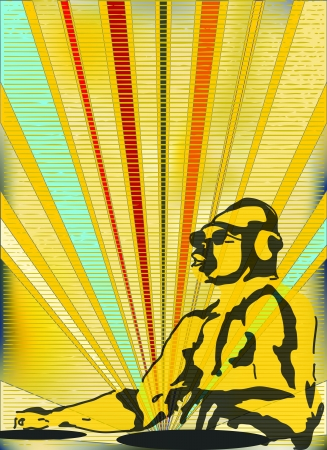 indie: Background illustration in a soviet style for a indie night or DJ set Poster