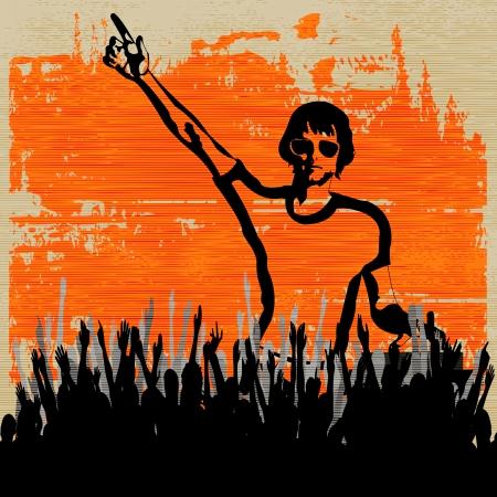 indie: Flyer for an Indie Club or DJ Set Illustration