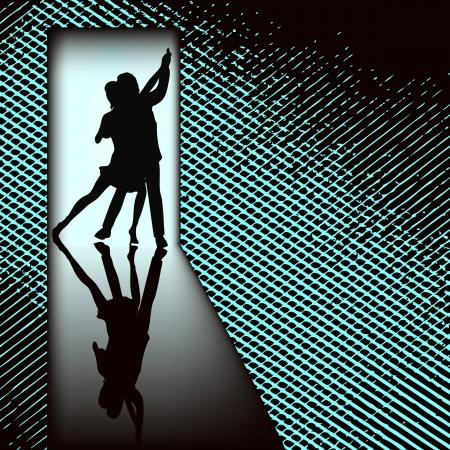 dance school: Doorway Tango  Illustration