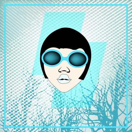 indie: Flyer for an Indie Club or DJ Set, background illustration