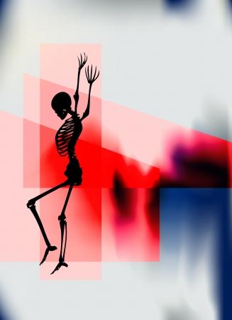 Halloween Night Poster mit einem tanzenden Skelett für eine Party oder Veranstaltung