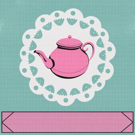 teatime: Teatime, Vector background with a vintage style teapot