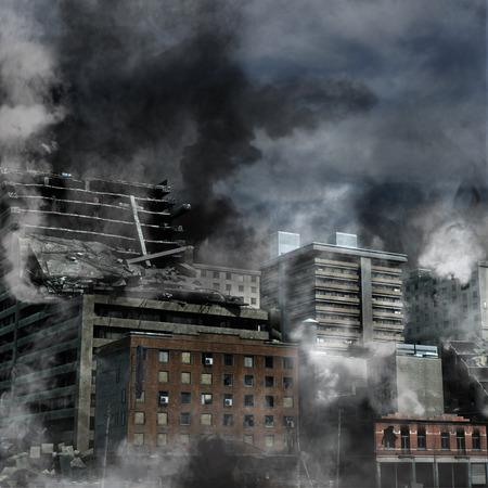 Städtischen Zerstörung