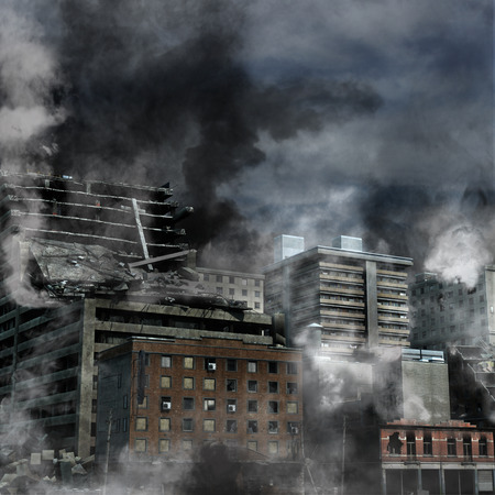 disaster: Urban Destruction Stock Photo