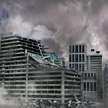 torned: Urban Destruction Stock Photo
