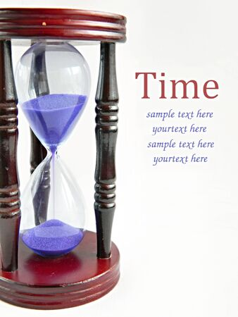 sandglass: Time - sandglass on the white background