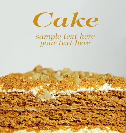 Traditional Czech honey cake photo