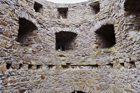 wall of ruins of Castle Helfštýn
