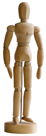 Wooden mannequin drawing