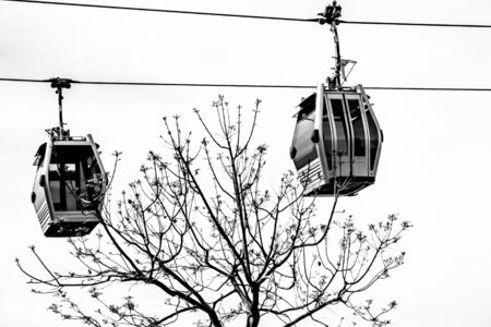 Cable car in Expo district, Spain