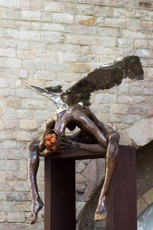 Barcelona, Spain April 2015 modern art sculpture at the street