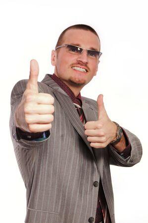 Young Businessman with Krawatte und Hemd, ja zu sagen  Standard-Bild - 7409709
