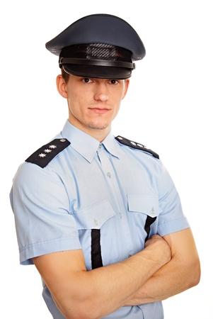 gorra polic�a: Retrato de joven polic�a