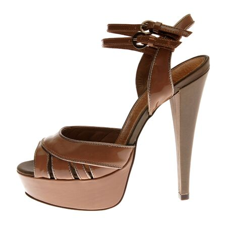 fetishes: Fashionable tape shoe on high heel for Women