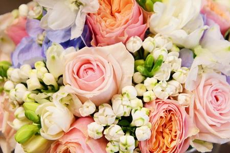 Beautiful bouquet of flowers close-up Standard-Bild
