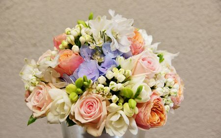 Bouquet of flowers with flowers roses and hydrangea
