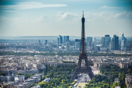 disctrict: Eiffel Tower view from Montparnasse tower on sunny day