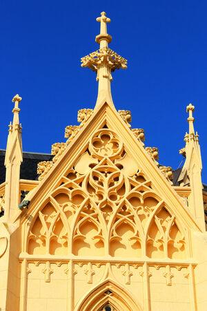 revival: Gothic revival style - tower National castle Lednice, Czech republic