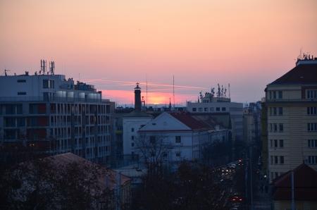 Západ slunce Praha Vinohrady