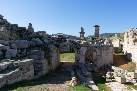 Ruins of ancient Lycias town