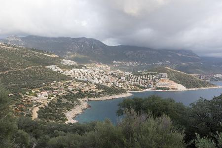 View to Kalkan town Banco de Imagens