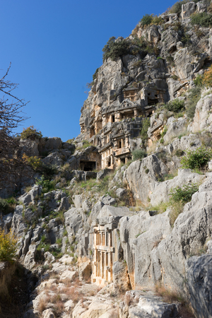 Lycian tombs in the Mira