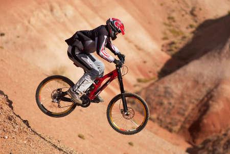 Extreme mountain biking photo