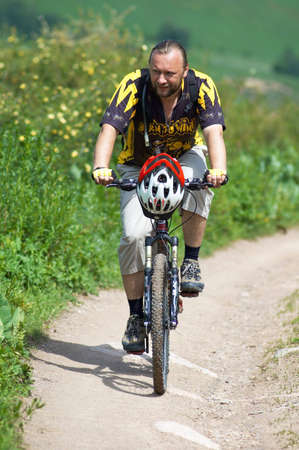 Biker on mountain road Stock Photo - 836744