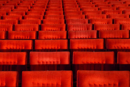 famous industries: Red concert hall, opera or theatre seats.