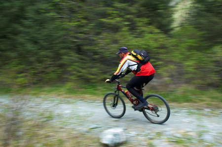 Speed motion biker Stock Photo - 1356697
