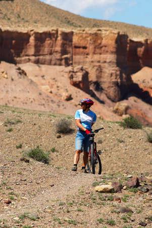 Mountain biker in Canyon Stock Photo - 1356730
