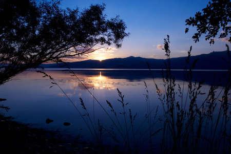 Sunset on mountain like