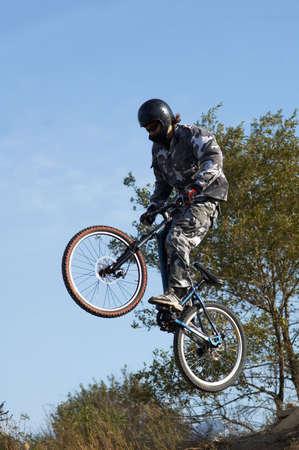 Fly mountain biker Stock Photo - 2047282