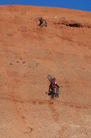 en mont�e: Bikers Uphill (deux)