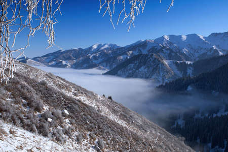 Above clouds in mountains Stock Photo - 2182079