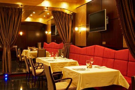 Centrepiece: Interior of the restaurant