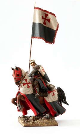 crusader: Medieval knight statuette Stock Photo