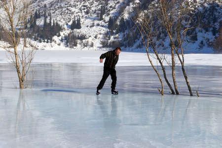 Ice Skating on mountain like Stock Photo - 2496337