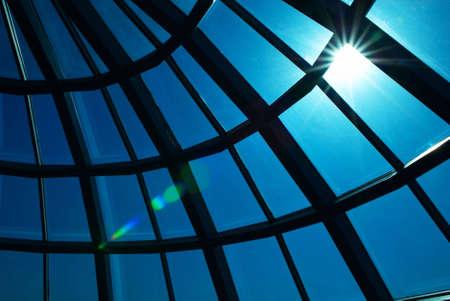 Glass dome and sun photo