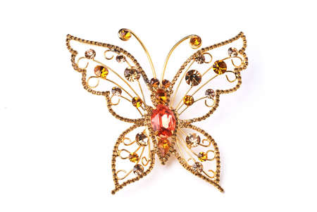 nicety: Golden butterfly Stock Photo