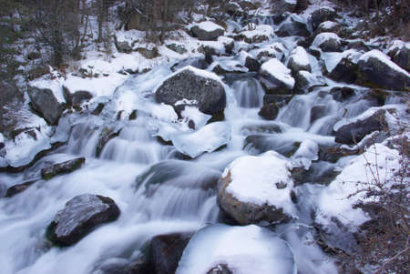 snowcapped: Water and ice Stock Photo