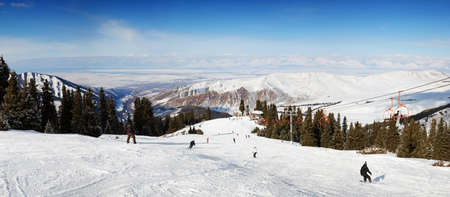 Ski resort panorama photo