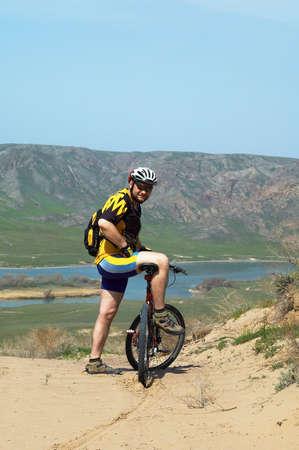 Adventure mountain biking photo
