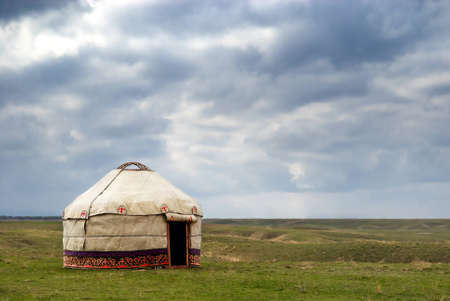 nomads: Yurt - Nomads tent is the national dwelling of Kazakhstan and Kirghizstan peoples