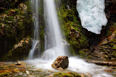 Waterfall close-up for wallpaper or backgrounds Stock Photo - 5010791
