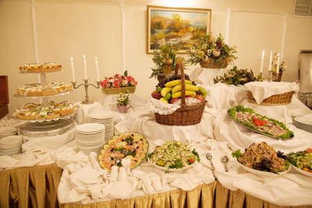 Dinner in restaraunt photo