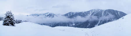 Winter mountain panorama photo